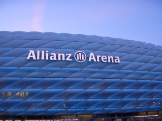 Close up of the Alliance Arena